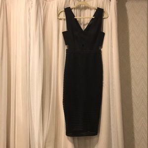 Black never worn cocktail length dress size small